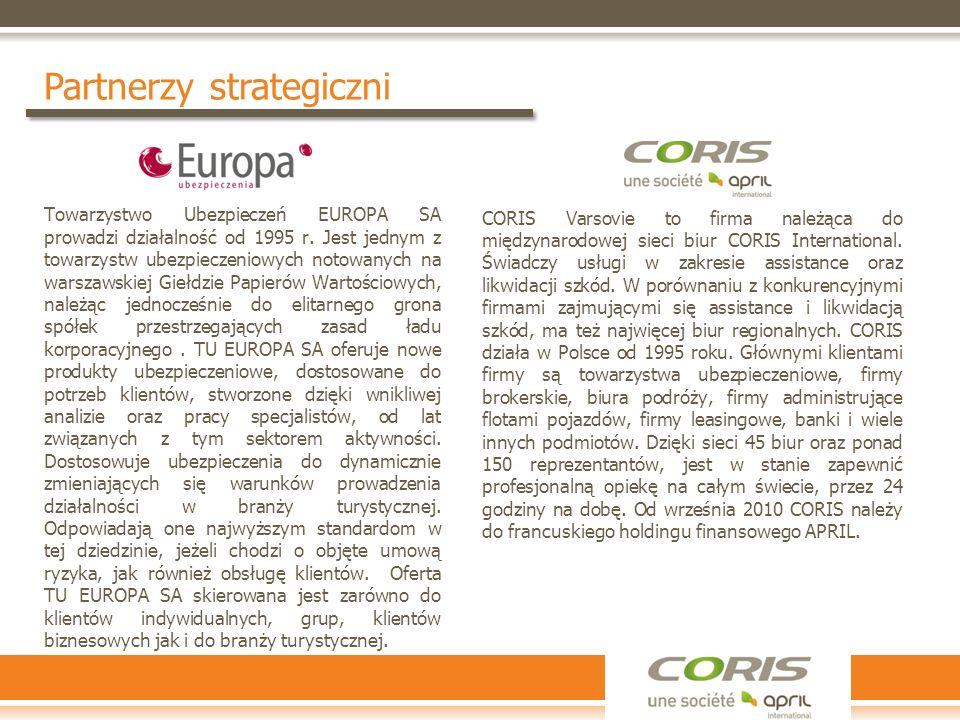Partnerzy strategiczni Towarzystwo Ubezpieczeń EUROPA SA prowadzi działalność od 1995 r. Jest jednym z towarzystw ubezpieczeniowych notowanych na wars