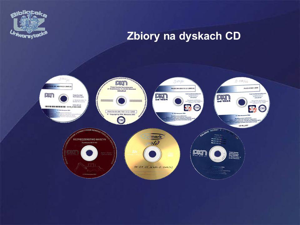 Zbiory na dyskach CD