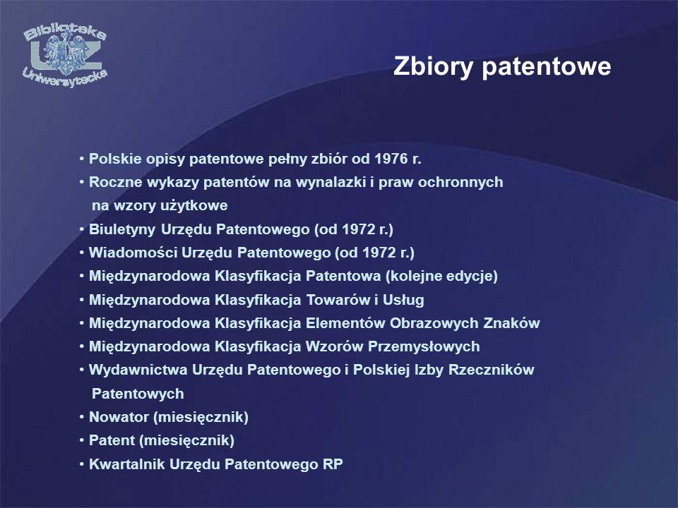 Polskie opisy patentowe pełny zbiór od 1976 r.