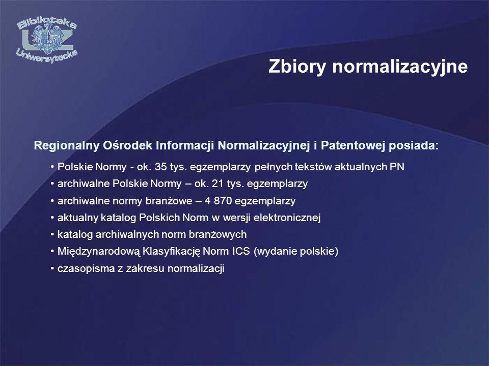 Zbiory normalizacyjne Polskie Normy - ok.35 tys.