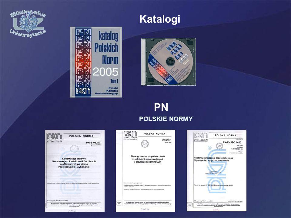 Katalogi PN POLSKIE NORMY