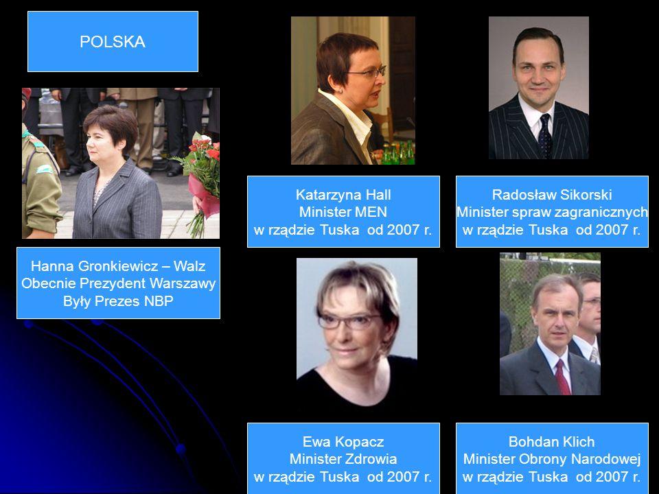 Radosław Sikorski Minister spraw zagranicznych w rządzie Tuska od 2007 r.