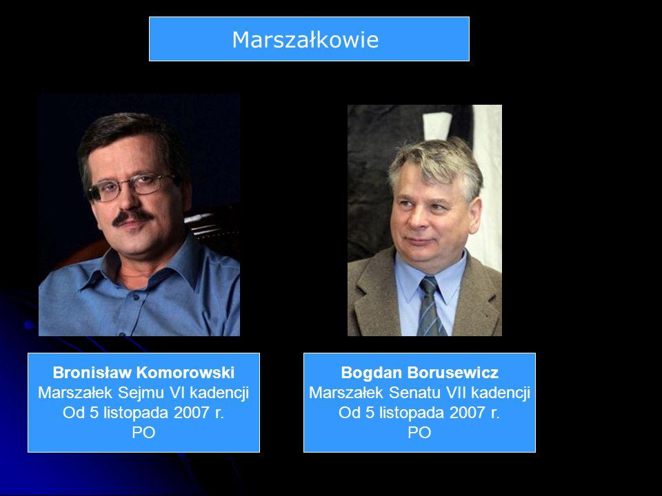 Marszałkowie Bronisław Komorowski Marszałek Sejmu VI kadencji Od 5 listopada 2007 r.