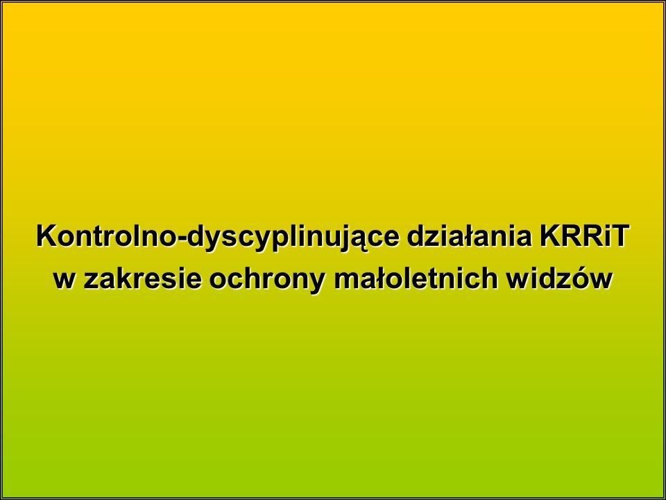 Kontrolno-dyscyplinujące działania KRRiT w zakresie ochrony małoletnich widzów