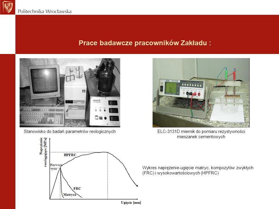 Prace badawcze pracowników Zakładu : Stanowisko do badań parametrów reologicznychELC-3131D miernik do pomiaru rezystywności mieszanek cementowych Wykr