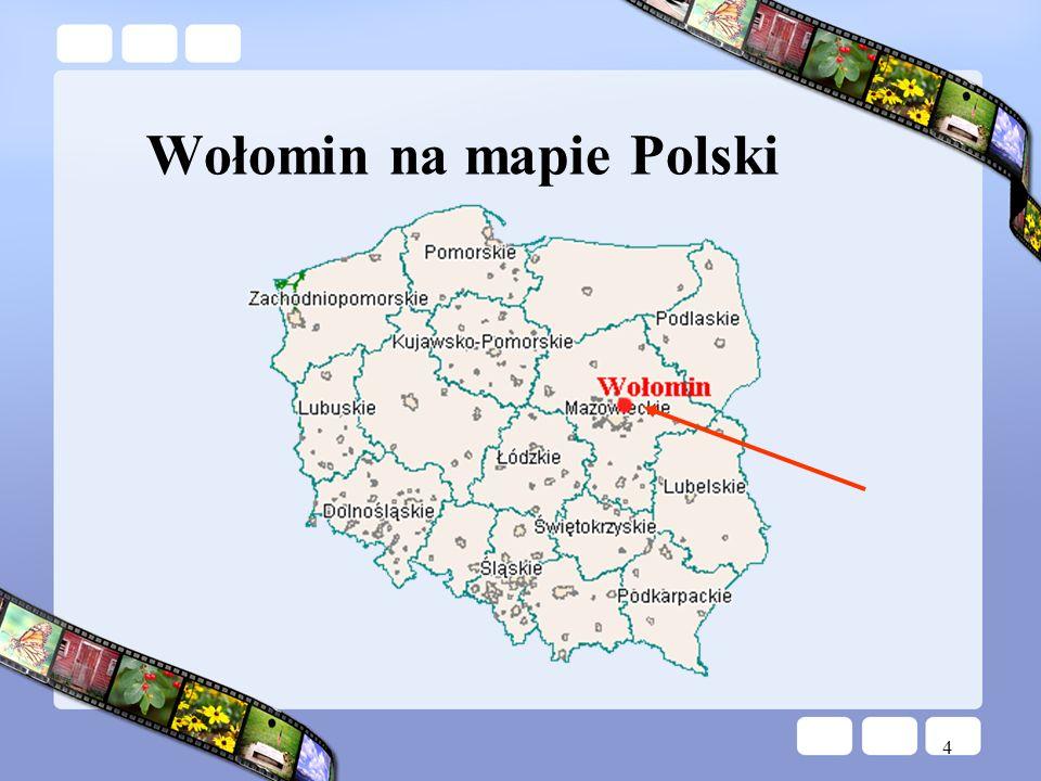 4 Wołomin na mapie Polski