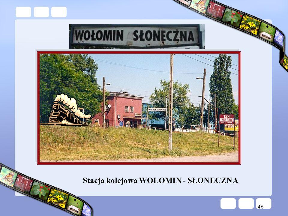 46 Stacja kolejowa WOŁOMIN - SŁONECZNA