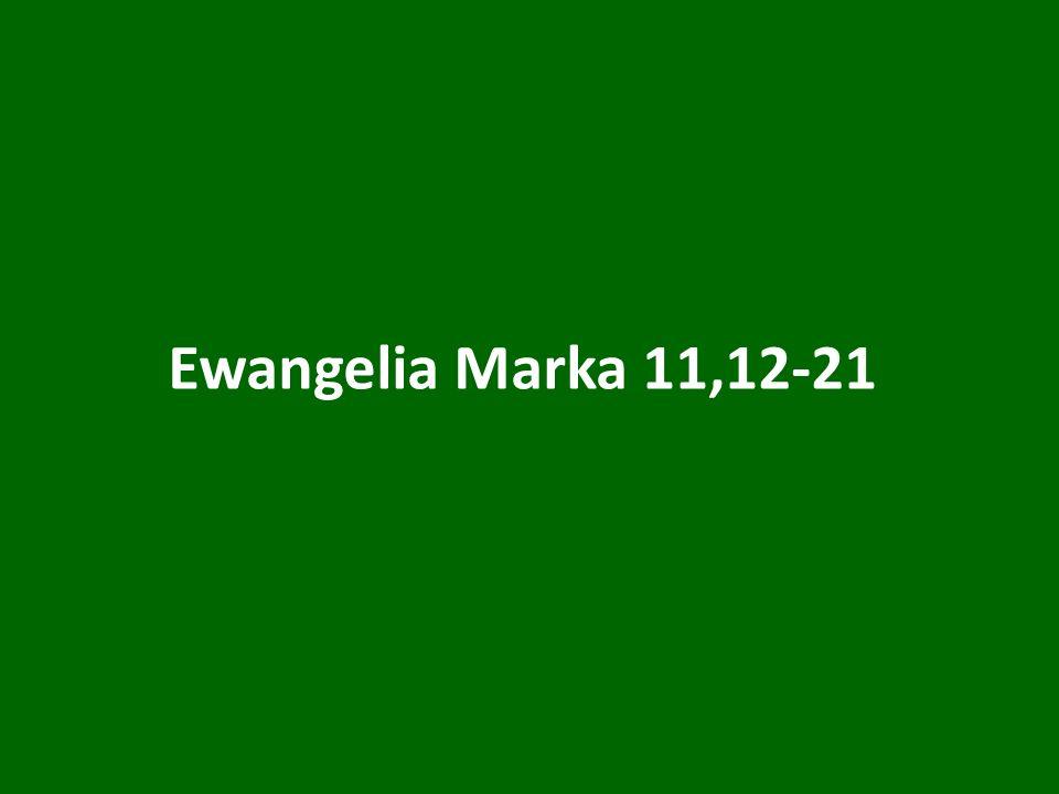 Ewangelia Marka 11,12-21