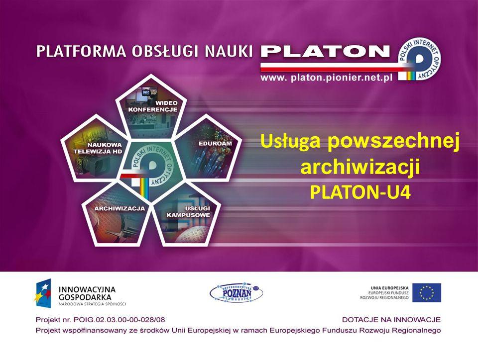 Usług a powszechnej archiwizacji PLATON-U4