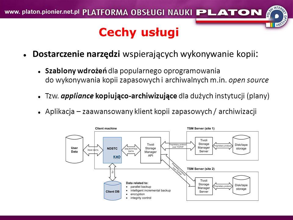 Dostarczenie narzędzi wspierających wykonywanie kopii : Szablony wdrożeń dla popularnego oprogramowania do wykonywania kopii zapasowych i archiwalnych