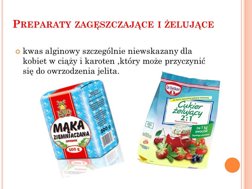 S UBSTANCJE ZAKWASZAJĄCE m. in. kwas octowy znajduje się w owocach i warzywach marynowanych oraz sosach, jest źle tolerowany u osób o wrażliwym żołądk