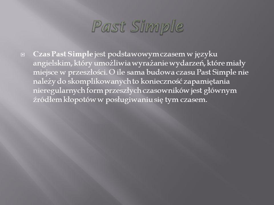 Czas Past Simple jest podstawowym czasem w języku angielskim, który umożliwia wyrażanie wydarzeń, które miały miejsce w przeszłości. O ile sama budowa