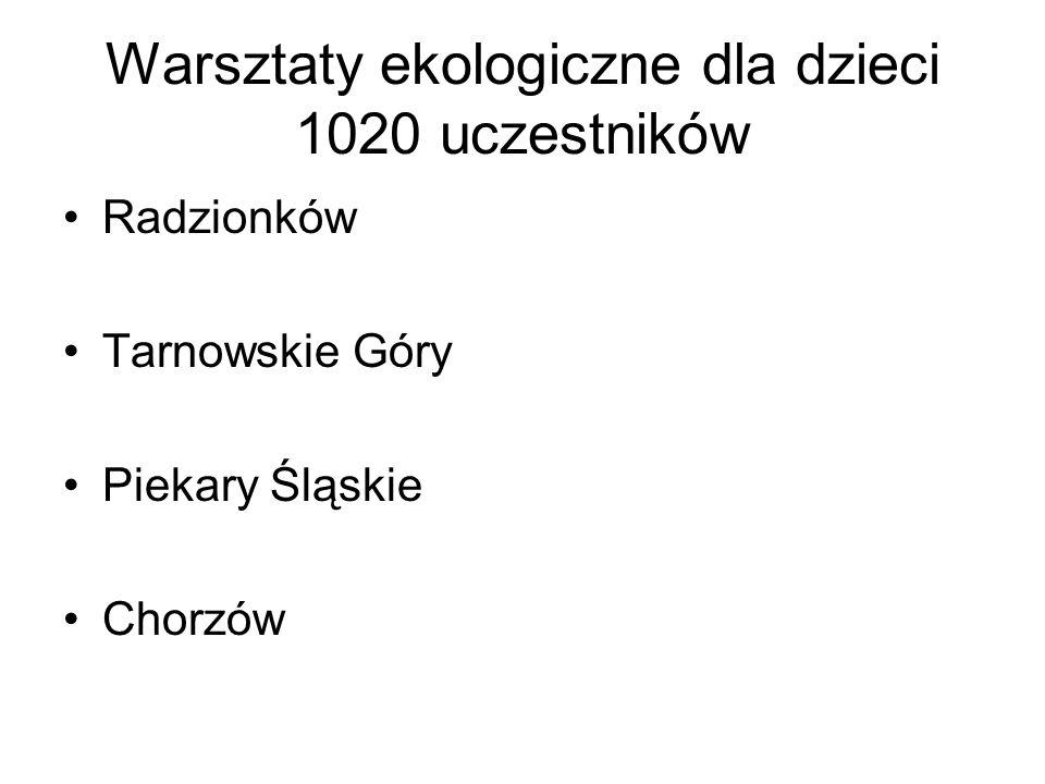 Warsztaty ekologiczne dla dzieci 1020 uczestników Radzionków Tarnowskie Góry Piekary Śląskie Chorzów