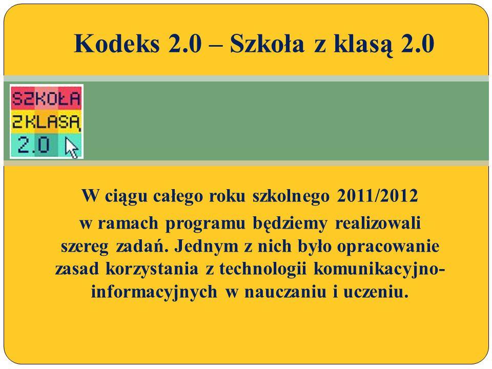W ciągu całego roku szkolnego 2011/2012 w ramach programu będziemy realizowali szereg zadań.