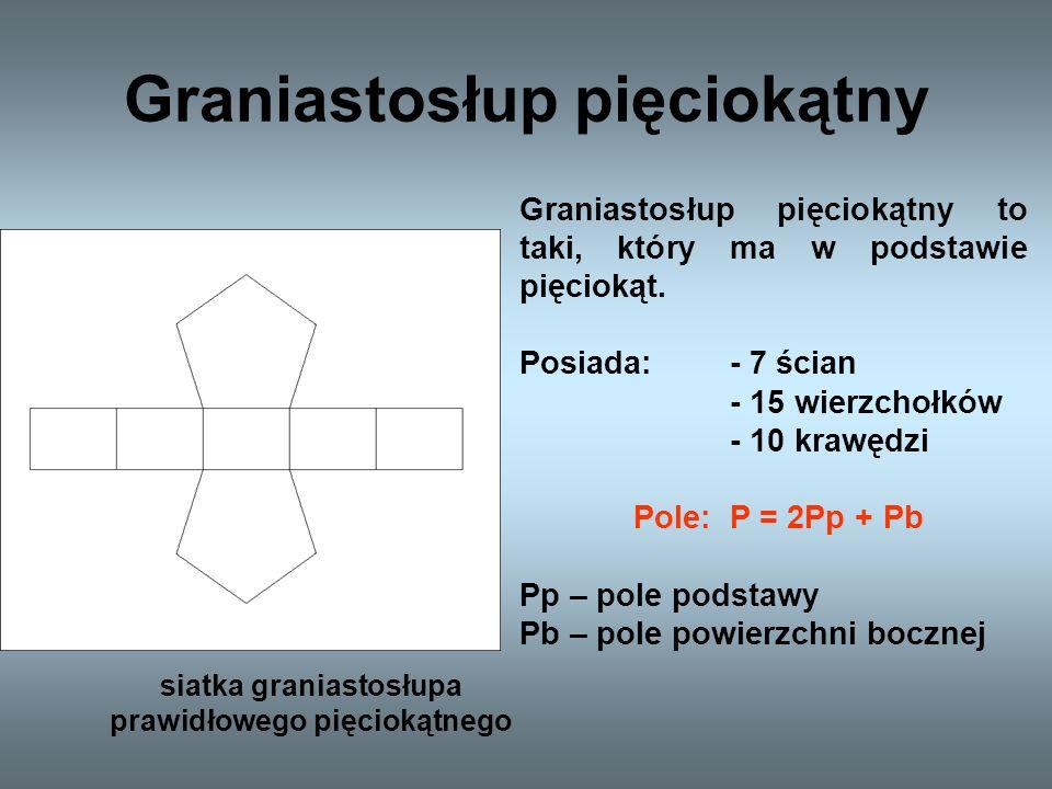 Graniastosłup sześciokątny siatka graniastosłupa prawidłowego sześciokątnego Graniastosłup sześciokątny to taki, który ma w podstawie sześciokąt.