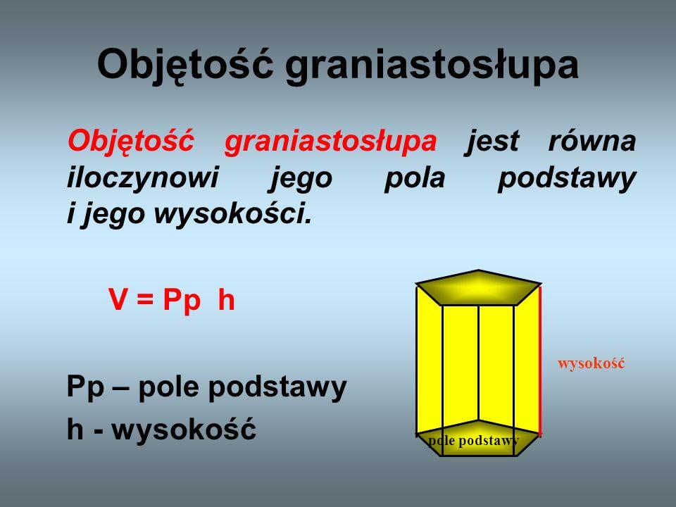 Graniastosłupy pochyłe Oprócz graniastosłupów prostych występują także graniastosłupy pochyłe.