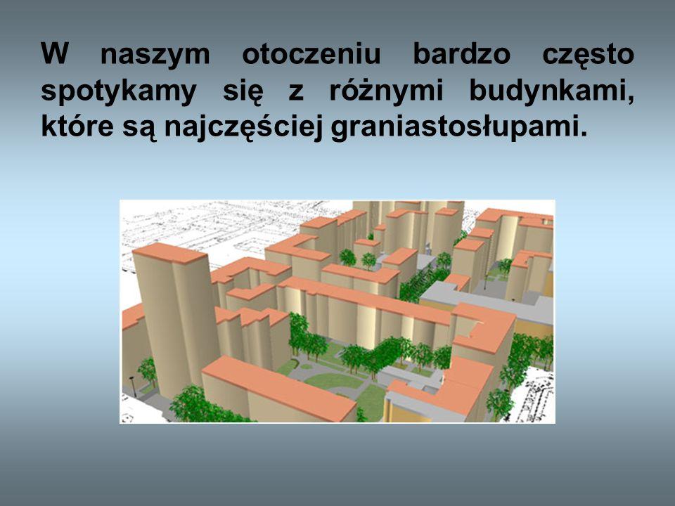 Określenie graniastosłupa Graniastosłup Graniastosłup jest wielościanem, którego dwie ściany zwane podstawami są przystającymi wielokątami równoległymi do siebie, a pozostałe ściany zwane bocznymi są równoległobokami.