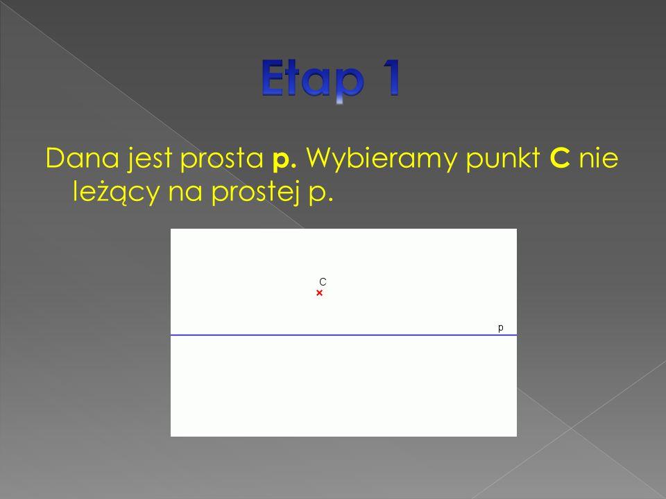 Dana jest prosta p. Wybieramy punkt C nie leżący na prostej p.