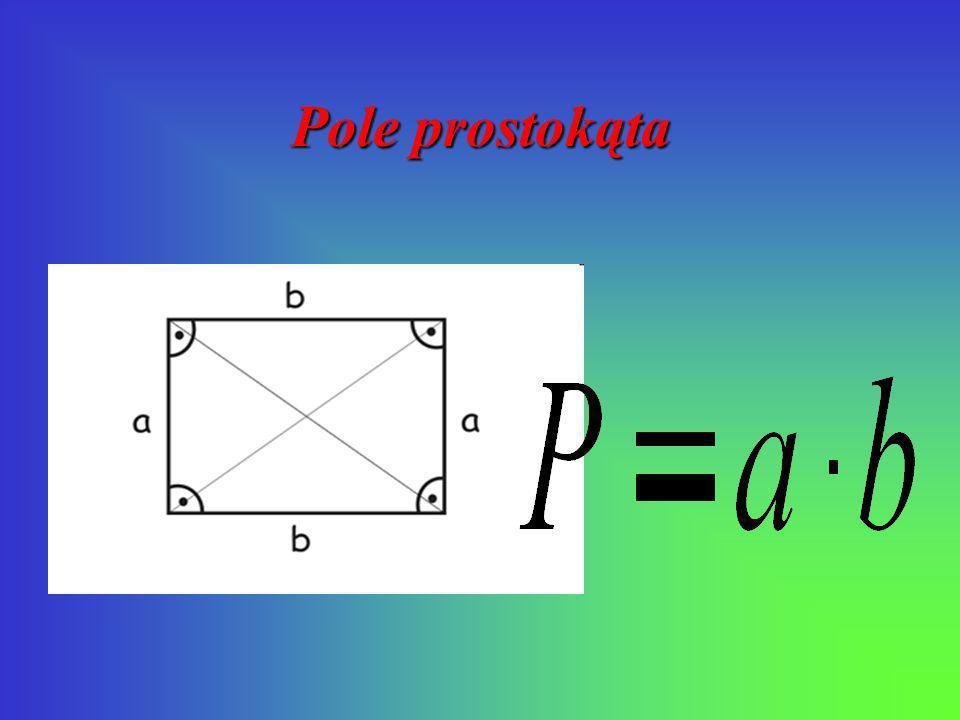 Pole kwadratu P= a a