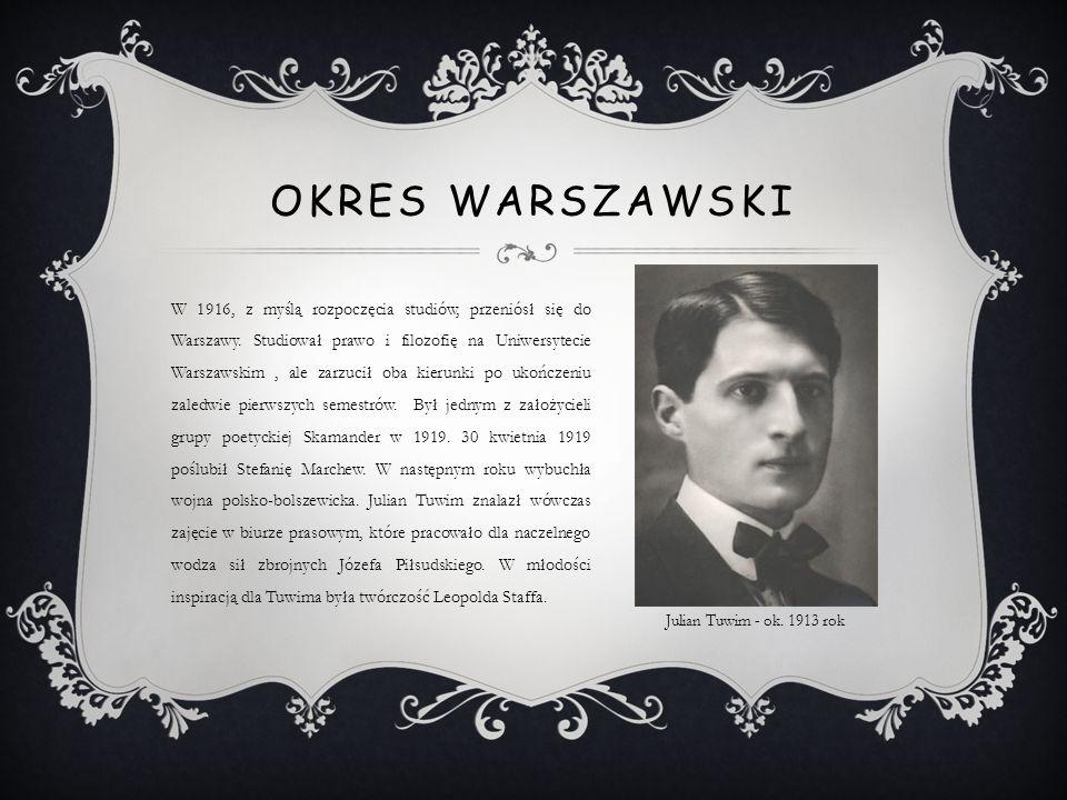 W 1916, z myślą rozpoczęcia studiów, przeniósł się do Warszawy. Studiował prawo i filozofię na Uniwersytecie Warszawskim, ale zarzucił oba kierunki po