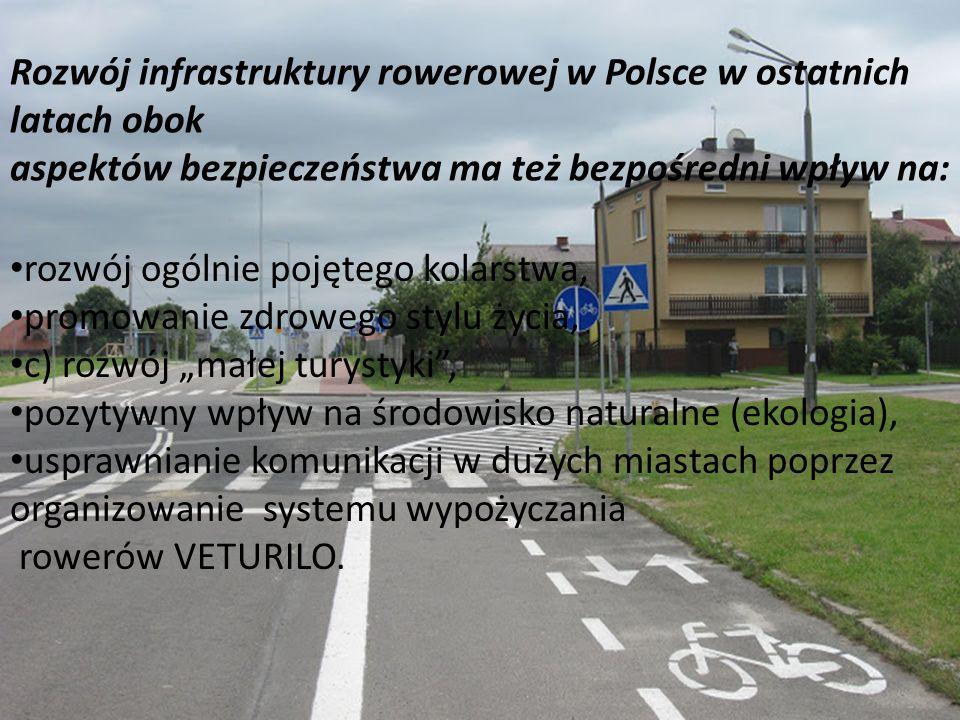 Rozwój infrastruktury rowerowej w Polsce w ostatnich latach obok aspektów bezpieczeństwa ma też bezpośredni wpływ na: rozwój ogólnie pojętego kolarstw