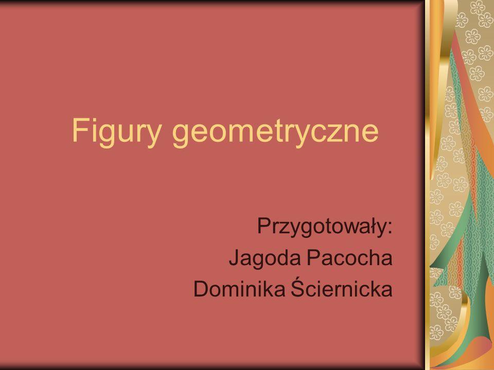 Figury geometryczne Przygotowały: Jagoda Pacocha Dominika Ściernicka