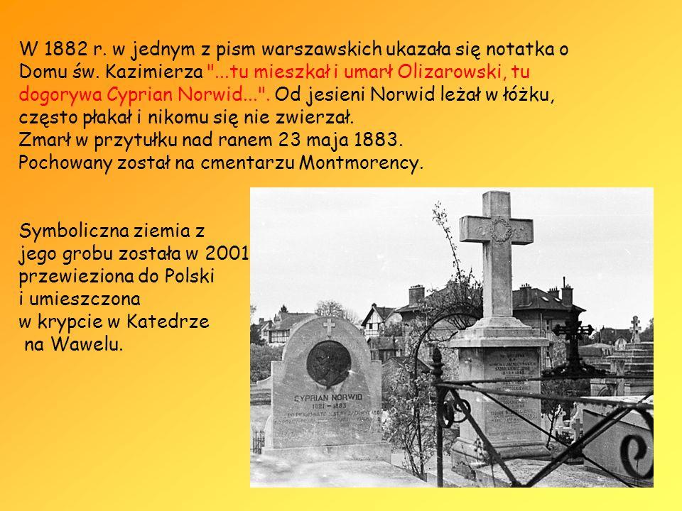 W 1882 r. w jednym z pism warszawskich ukazała się notatka o Domu św. Kazimierza