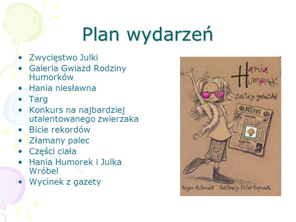 Książka, którą właśnie opisuję nosi tytuł Hania Humorek zostaje gwiazdą
