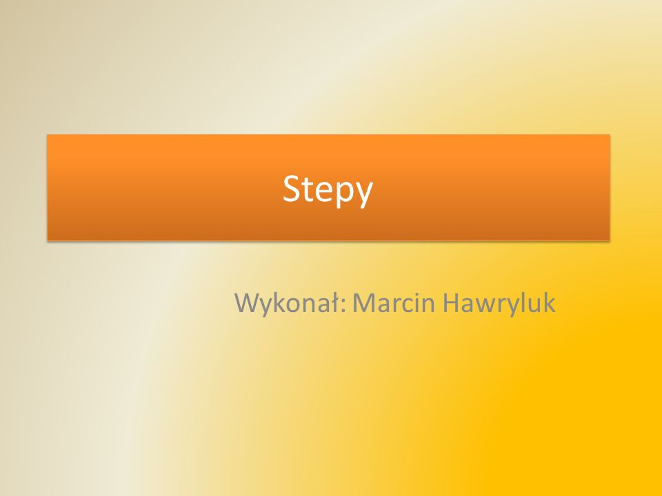 Stepy Wykonał: Marcin Hawryluk