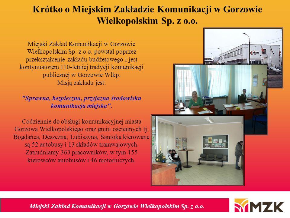 Miejski Zakład Komunikacji w Gorzowie Wielkopolskim Sp.