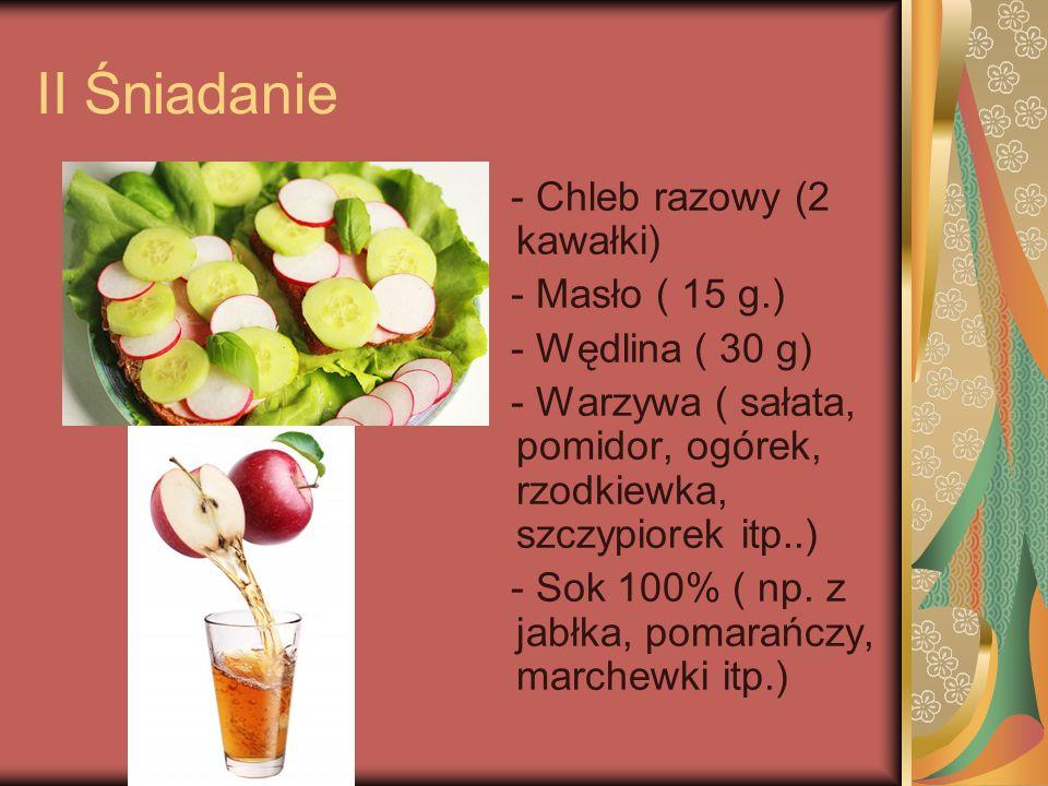 Kolacja: - Chleb razowy ( 2 kawałki) - Masło ( 15 g.) - Sałatka z pomidorami, cebulą i jogurtem naturalnym