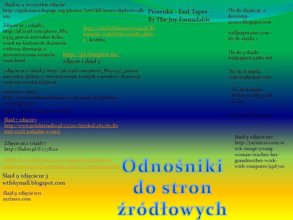 Slajd nr 4 (wszystkie zdjęcia) http://sp9kutno.edupage.org/photos/?setOldViewer=1&photo=alb um Zdjęcie nr 1 (slajd5) http://pl.123rf.com/photo_884 043