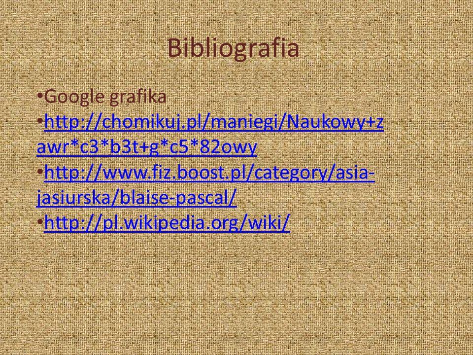 Bibliografia Google grafika http://chomikuj.pl/maniegi/Naukowy+z awr*c3*b3t+g*c5*82owy http://chomikuj.pl/maniegi/Naukowy+z awr*c3*b3t+g*c5*82owy http
