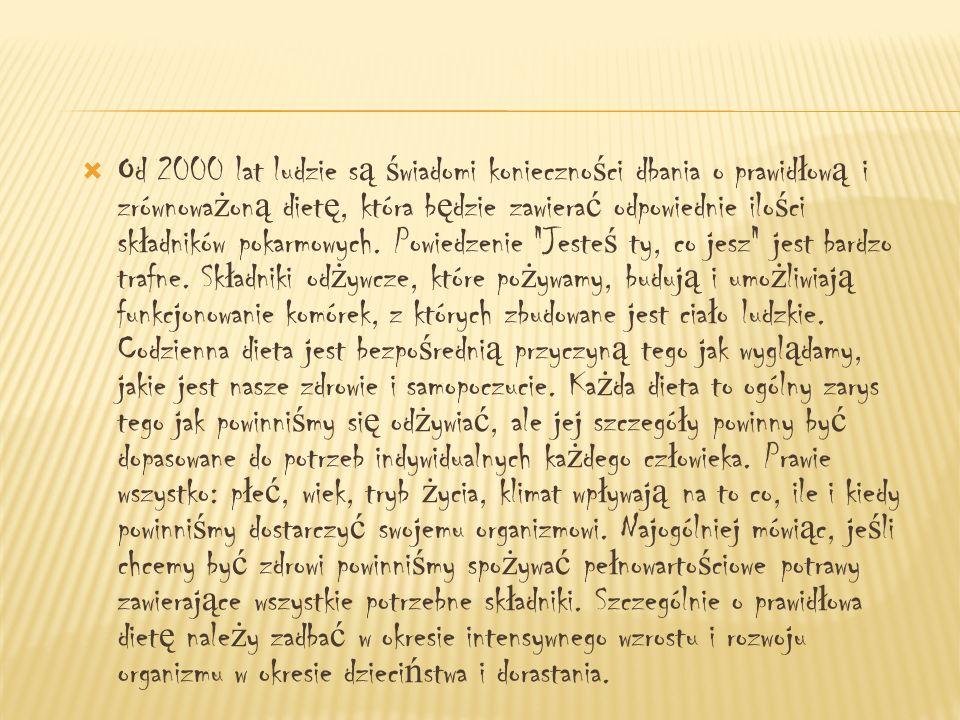 Dane statystyczne wspó ł czesnej medycyny wykazuj ą, ż e 30-50 jednostek chorobowych ma pod ł o ż e ż ywieniowe i dlatego: Nie traktuj ż o łą dka jak kub ł a na ś mieci - nie jedz w nadmiarze !.