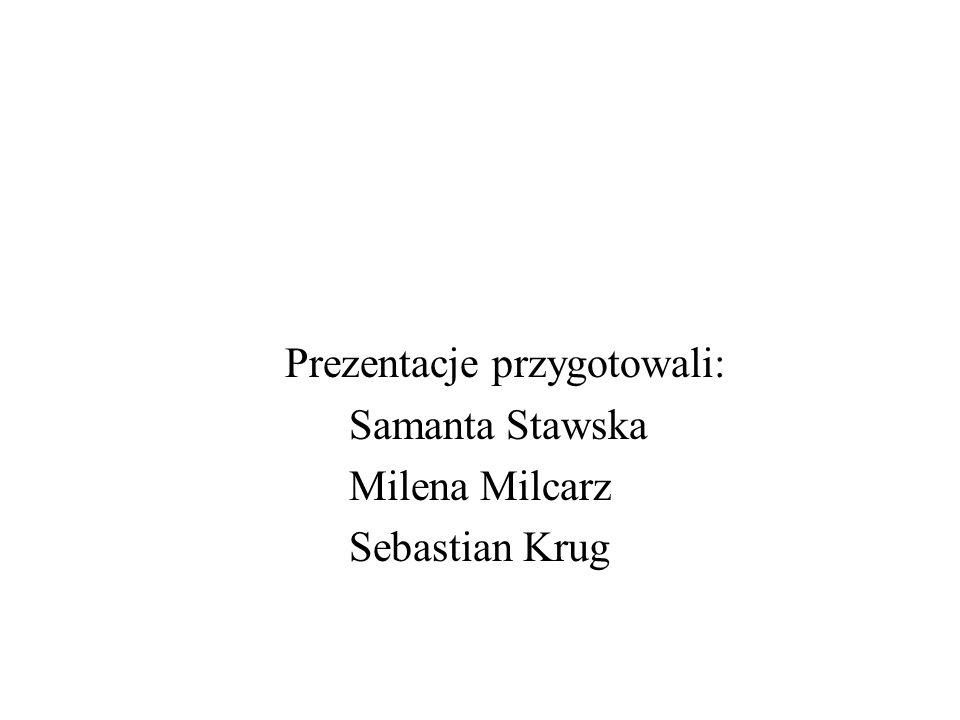Prezentacje przygotowali: Samanta Stawska Milena Milcarz Sebastian Krug