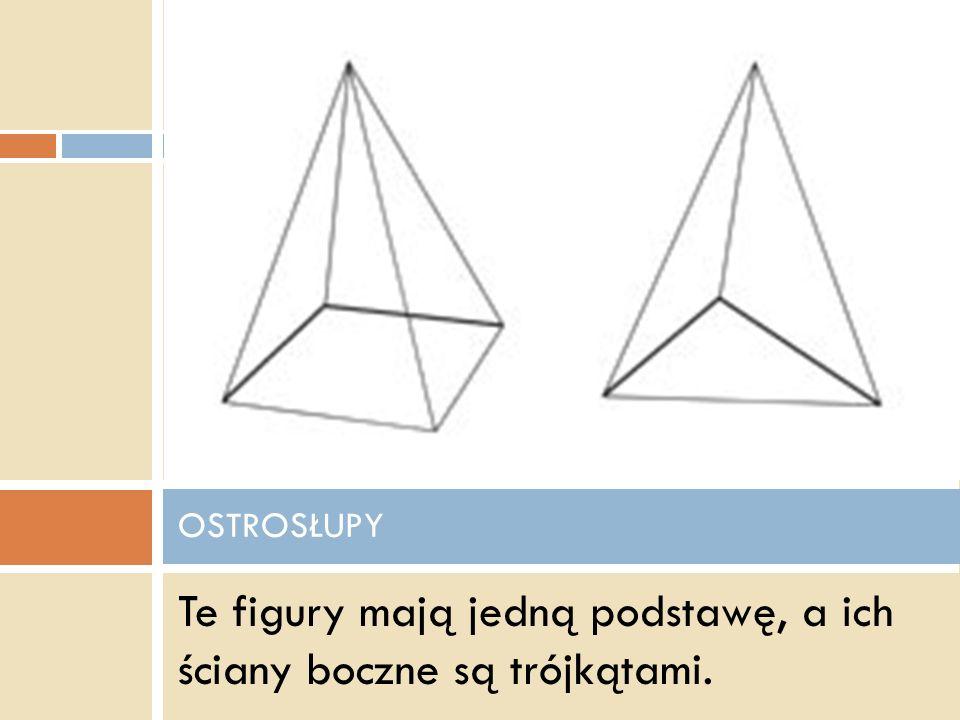 Siatka graniastosłupa o podstawie trójkąta