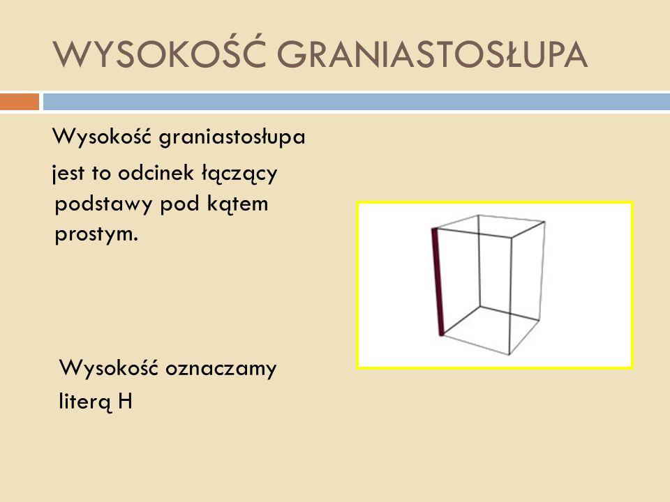 Jest to graniastosłup, którego podstawą jest wielokąt foremny (np.: kwadrat, trójkąt równoboczny,...). GRANIASTOSŁUP PRAWIDŁOWY