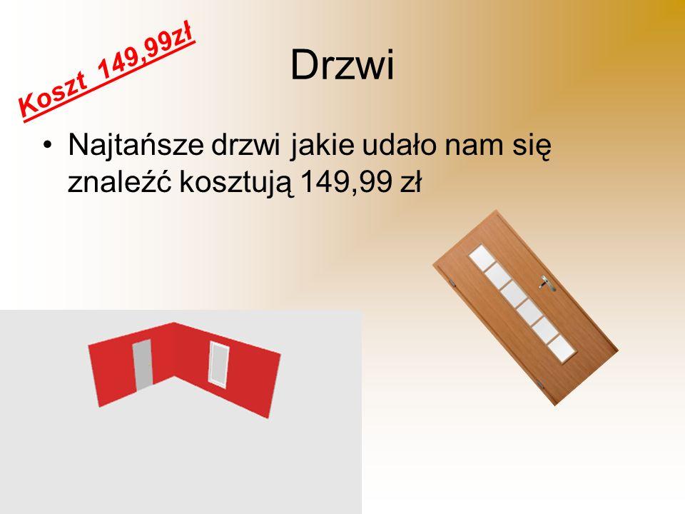 Okno Okno natomiast dobrej a zarazem taniej firmy Okna Kraków kosztuje 235,50 zł Koszt 235,50zł