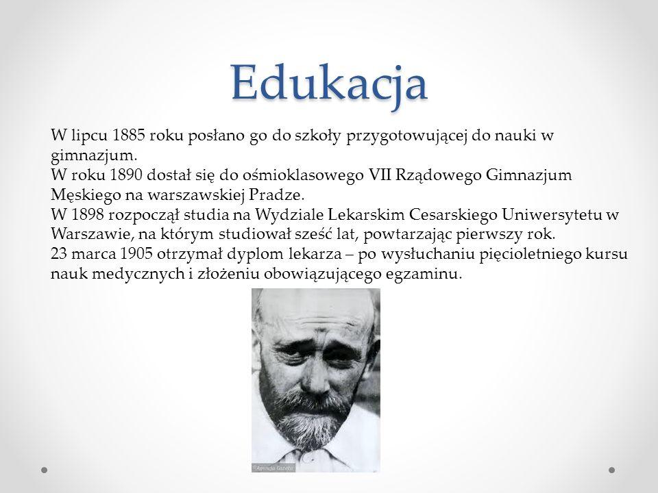 Edukacja W lipcu 1885 roku posłano go do szkoły przygotowującej do nauki w gimnazjum.