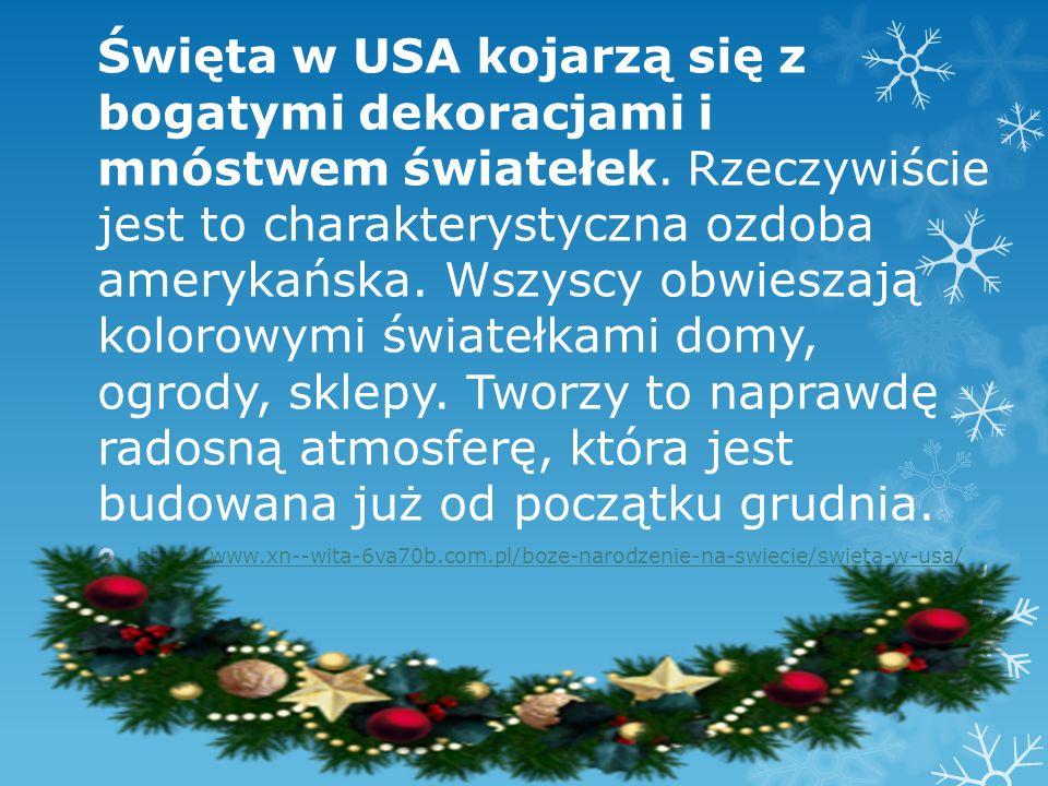 Choinkę stawia się w amerykańskim domu zwykle wcześniej niż w Polsce, często już na początku grudnia.