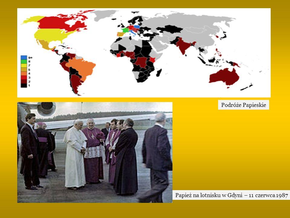 Papież na lotnisku w Gdyni – 11 czerwca 1987 Podróże Papieskie