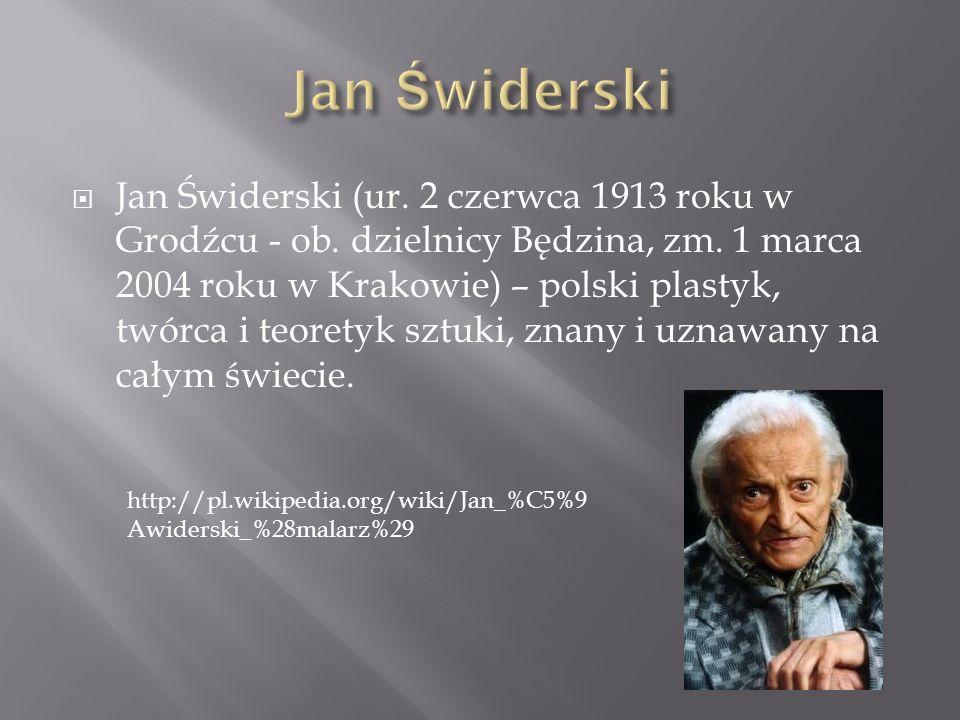 Jan Świderski (ur. 2 czerwca 1913 roku w Grodźcu - ob. dzielnicy Będzina, zm. 1 marca 2004 roku w Krakowie) – polski plastyk, twórca i teoretyk sztuki