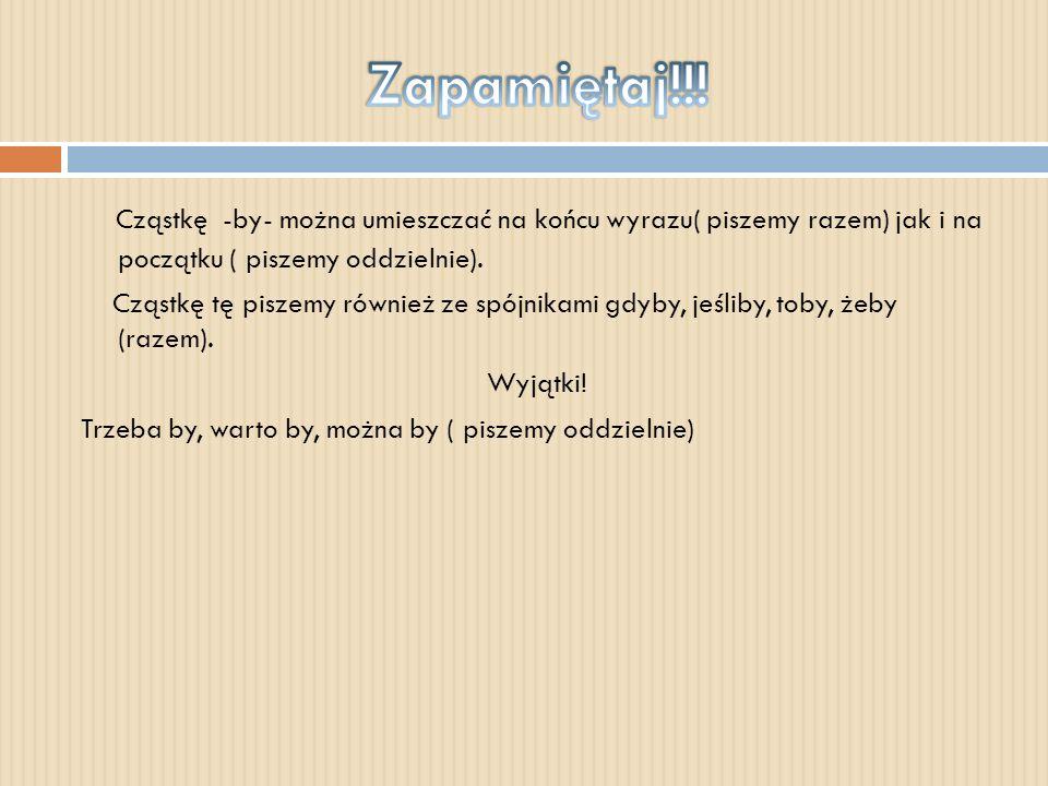 Tryb oznajmujący- czasownik informuje o wykonywaniu danej czynności, np. gramy, szukam Tryb rozkazujący- czasownik przedstawia nakaz, np. graj, strzel