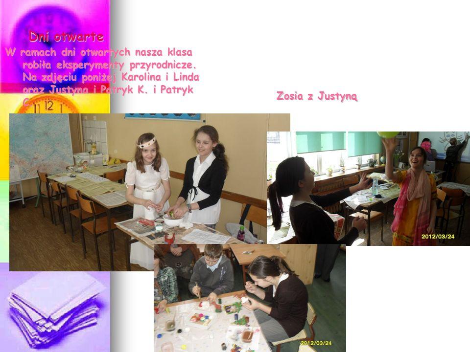 Dni otwarte W ramach dni otwartych nasza klasa robiła eksperymenty przyrodnicze.