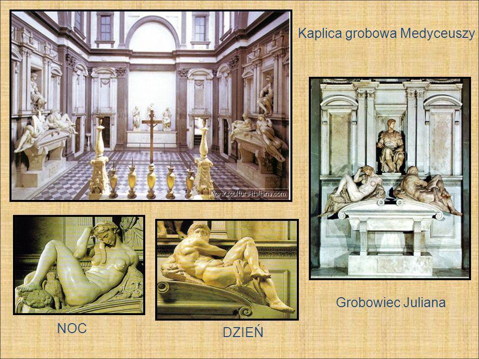 Kaplica grobowa Medyceuszy DZIEŃ Grobowiec Juliana NOC