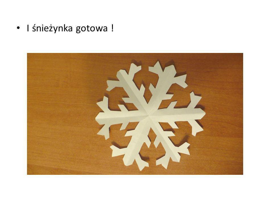 I śnieżynka gotowa !