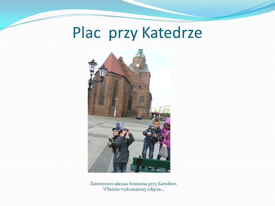 Plac przy Katedrze Zainteresowała nas fontanna przy Katedrze. Właśnie wykonujemy zdjęcia...