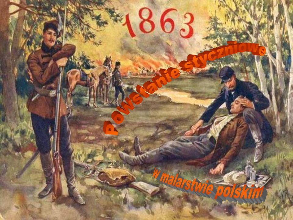 Jan Rosen, Powstańcy z roku 1863. 1880. Olej na płótnie. 95 x 176 cm