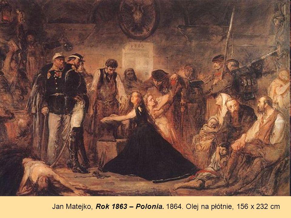 Jan Matejko, Rok 1863 – Polonia. 1864. Olej na płótnie, 156 x 232 cm