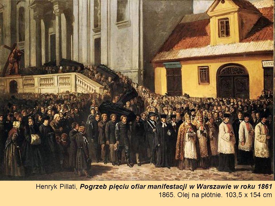 Henryk Pillati, Pogrzeb pięciu ofiar manifestacji w Warszawie w roku 1861 1865.
